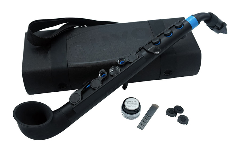 Nuvo jSax in Black with Blue Trim