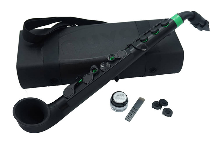 Nuvo jSax in Black with Green Trim