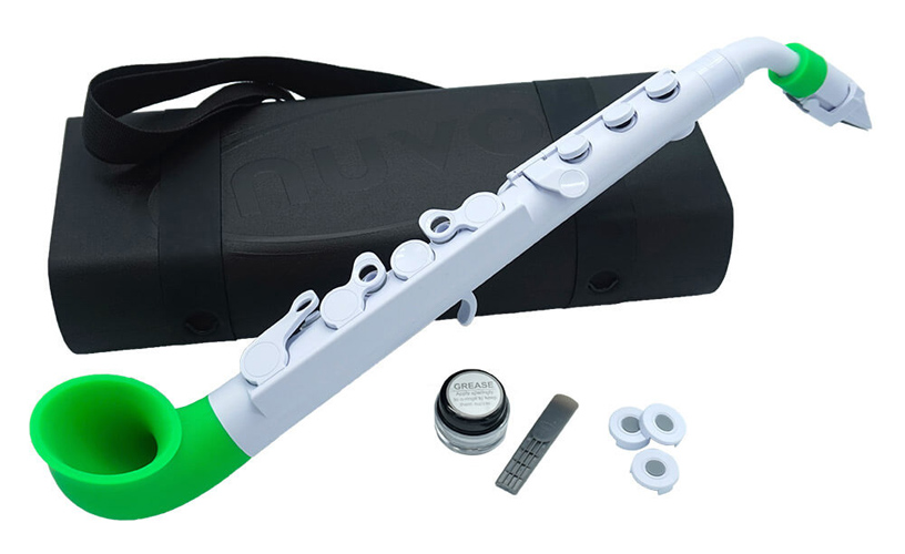 Nuvo jSax in White with Green Trim