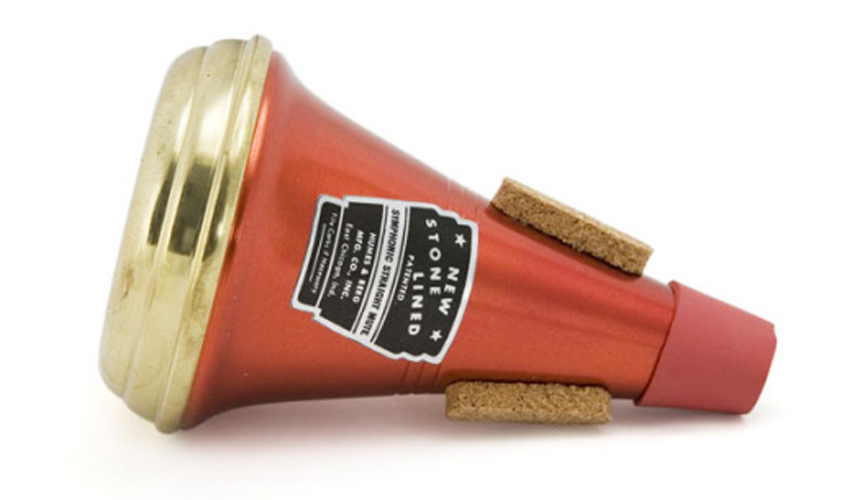 Humes & Berg Trumpet Mute Straight Symphonic 106 - Brass End