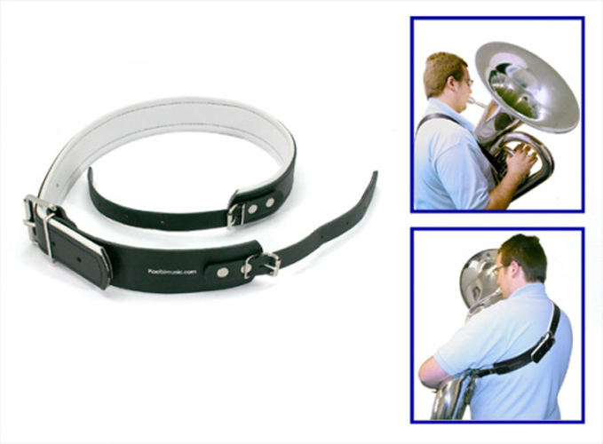 Tuba Carriage Belt in Black Leather
