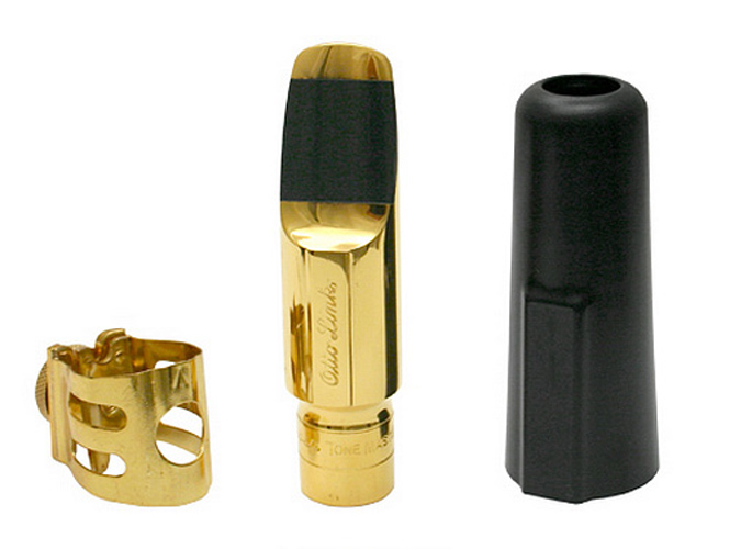 Otto Link Alto Saxophone Mouthpiece with Lig and Cap Gold Plated