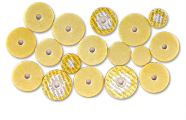 Yamaha Flute Pad Set 16 Piece - Deluxe Yellow Skin