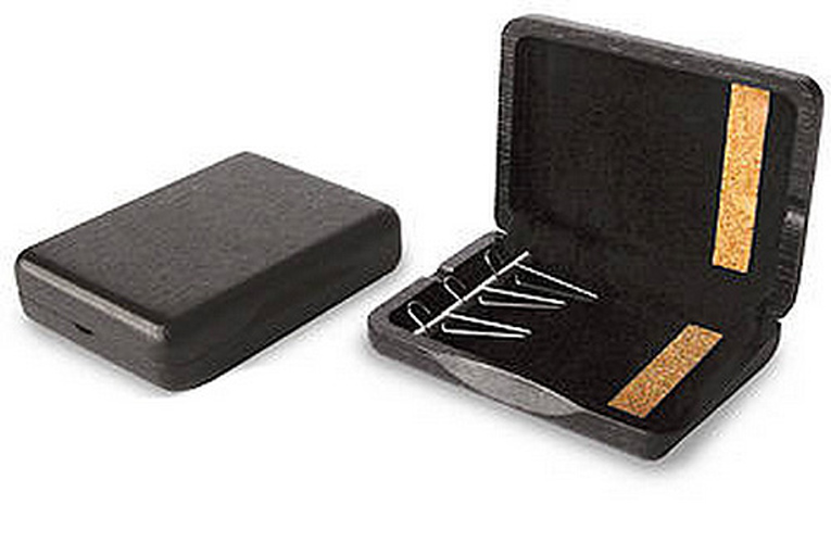 Wooden Bassoon Reed Case 3 Reed Capacity - Black