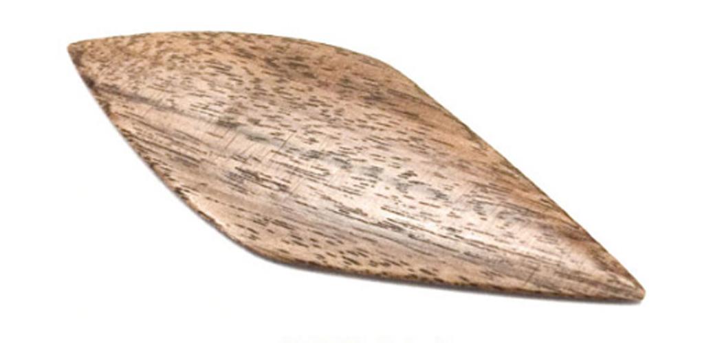 Pisoni Bassoon Reed Plaque Convex in Deluxe Ebony