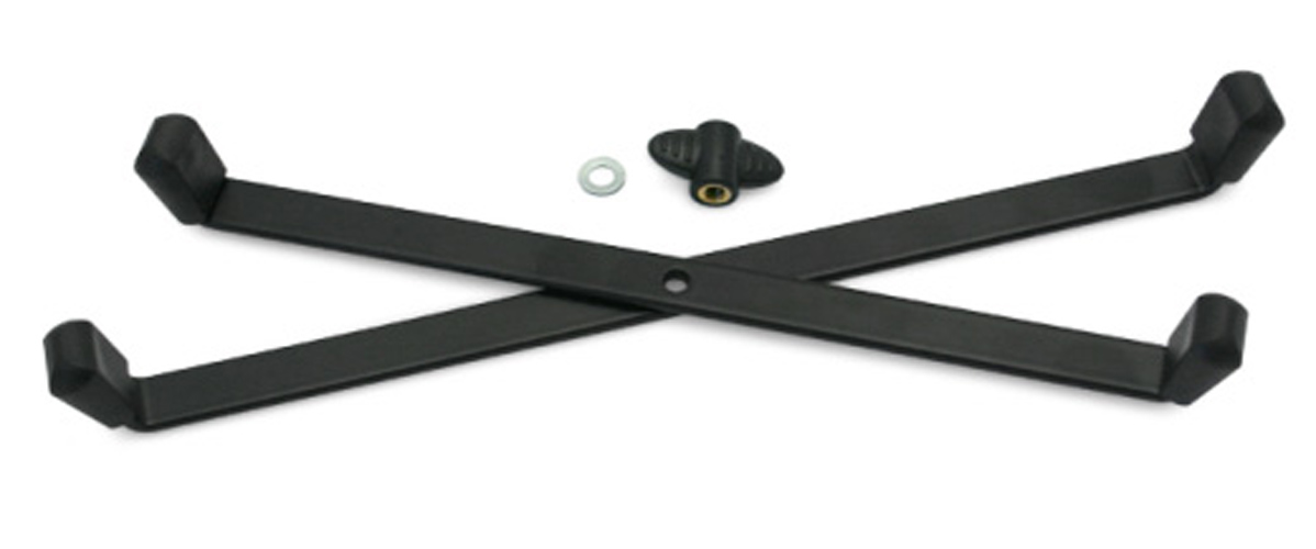 K&M 17700B Foldable Base - Single Base Black