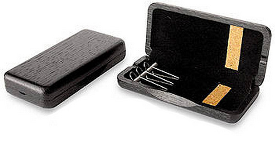 Wooden Oboe Reed Case 3 Reed Capacity - Black