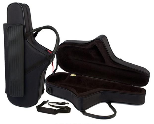 BAM Shaped Alto Sax Case - with Strap and Pocket - Black