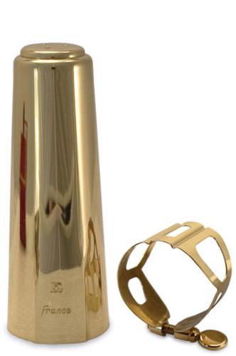 BG L60 Tradition Baritone Sax Ligature & Cap - Gold Lacquer