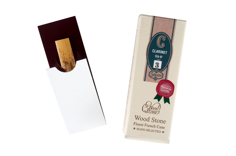 Ishimori Wood Stone Hand Selected Bb Clarinet Reeds - box of 5
