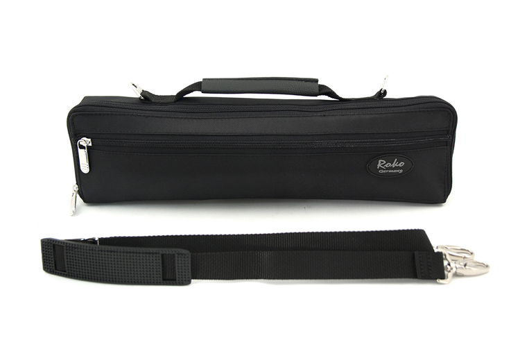 Roko Flute Case Cover in Black Lined