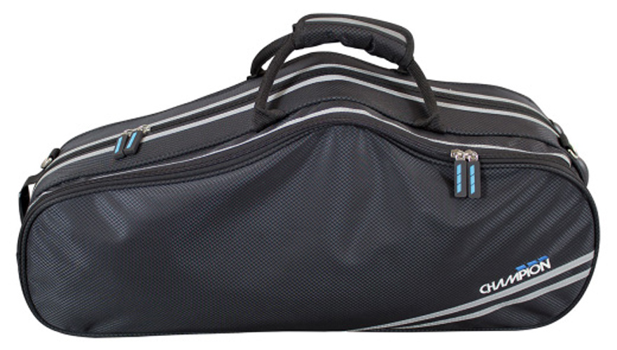 Champion Shaped Alto Saxophone Case - Black