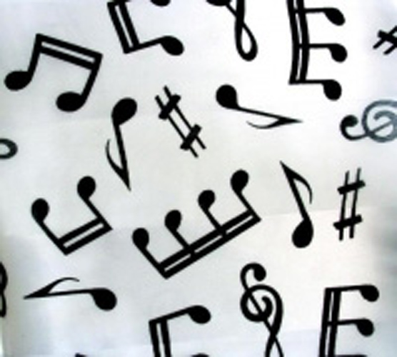 Scarf White Music Long