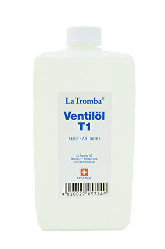 La Tromba T1 Valve Oil - 1 Litre Large Bottle