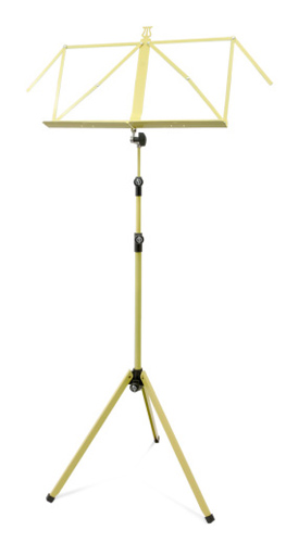 K&M 3 Section Deluxe 100/1 Music Stand - Yellow