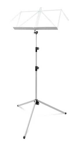 K&M 3 Section Deluxe 100/1 Music Stand - White