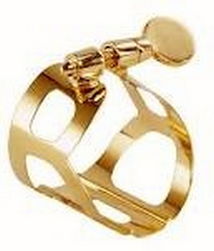 BG L50 Tradition Soprano Sax Ligature and Cap - Gold Lacquer
