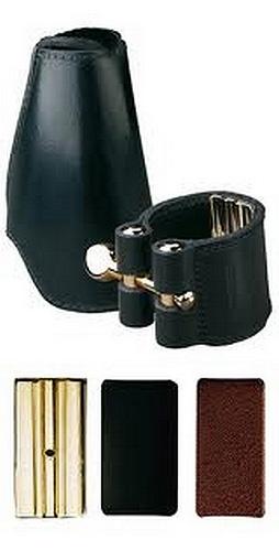 Vandoren Leather Ligature for Tenor Sax 3 Plates - Leather Cap