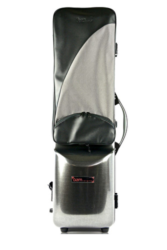 BAM Hightech Bass Clarinet Case with Double Clarinet Case - Black Carbon