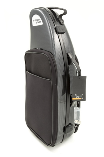 BAM High-tech Alto Sax Case with Pocket - Black Carbon Look
