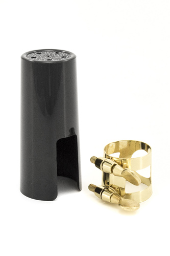 Otto Link Sop Sax Ligature and Cap for Ebonite Mouthpiece