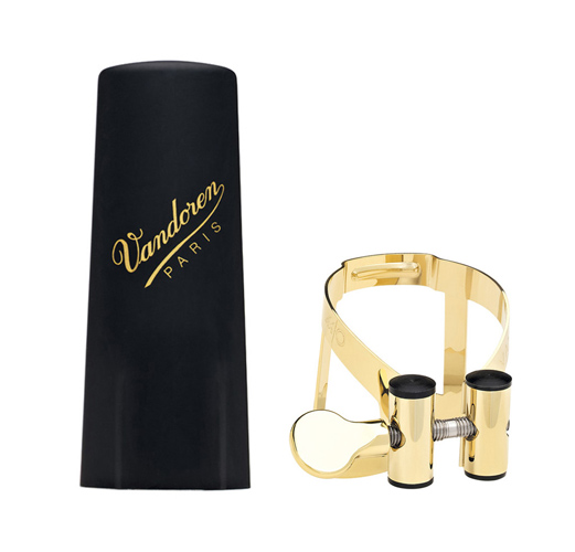 Vandoren Tenor Sax Ligature and Cap LC58GP - MO Gold Plated