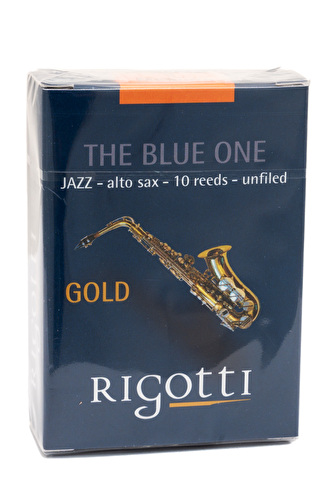 Rigotti Gold JAZZ Alto Saxophone Reeds - Box of 10