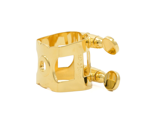 Wood Stone Original Alto Sax Ligature (Metal ARB fit) - Gold Plate