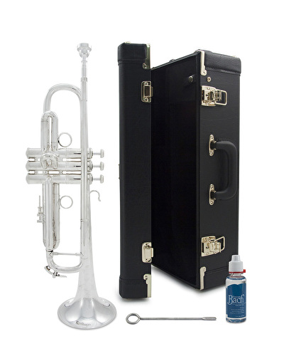 Ex-Demo Bach Stradivarius LR190S43B Silver Plate - Bb Trumpet (711841)