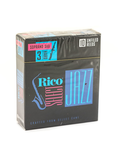 Rico Jazz Select Unfiled Soprano Saxophone Reed Box of 10 - Strength 3H