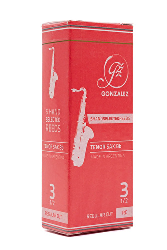 Gonzalez RC Tenor Saxophone Reed Box of 5 - Strength 3.5