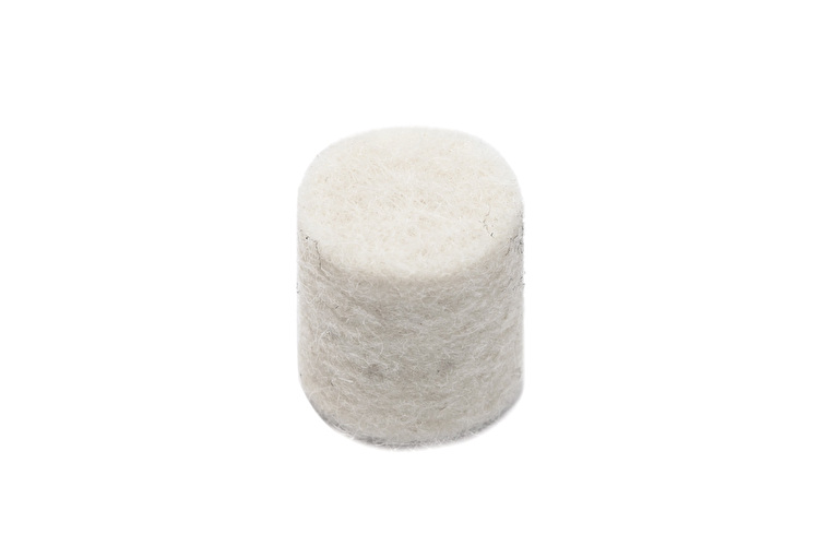 Felt Bumper White - 8mm OD x 12mm Thick