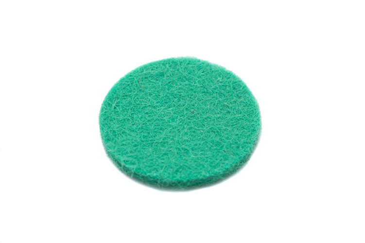 Felt Disc - 17.5mm OD x 2mm thick - Green