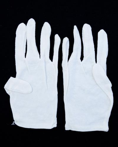 Gloves - White Cotton - Pair