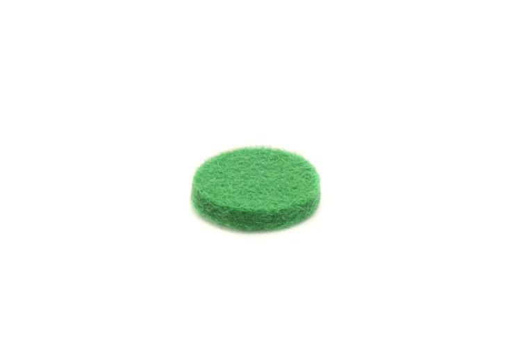 Felt Disc - Green - 12mmx2mm