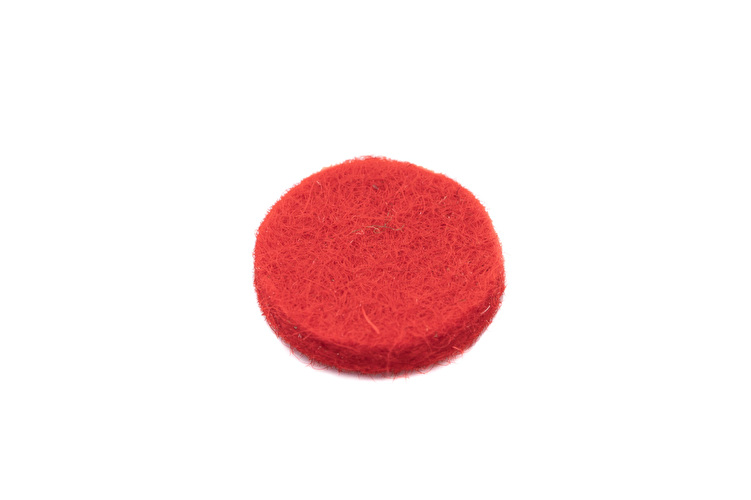 Felt Disc o.d 14 mm Thick 1.6mm  Red