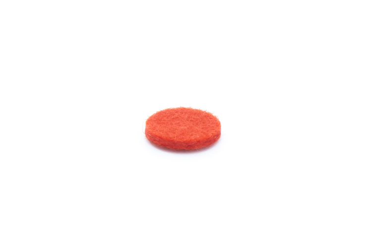 Felt Disc - Red - 15mmx2mm