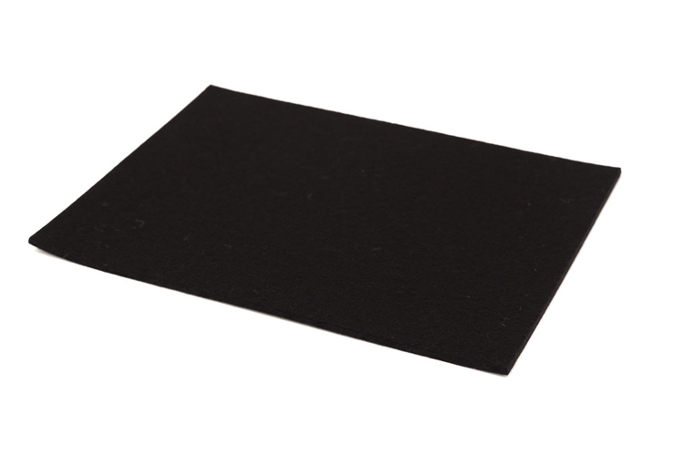 Sheet Felt Black - 3.0mm thick - Approx 220mm x 160mm