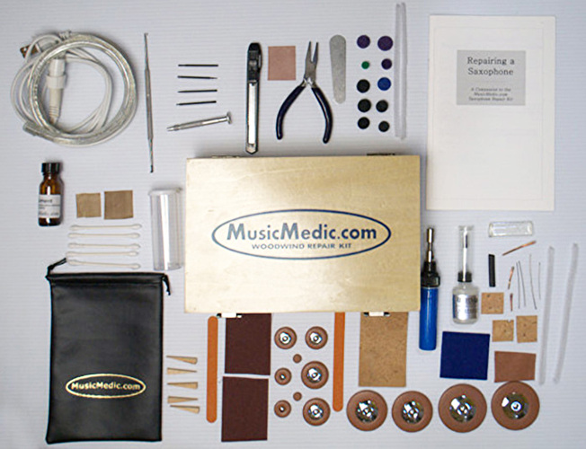 MusicMedic Saxophone Repair Kit - English Instructions - 220V
