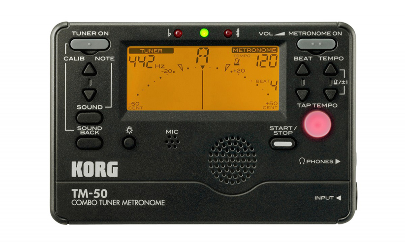 Korg TM60C-BK Chromatic Tuner Metronome Combo