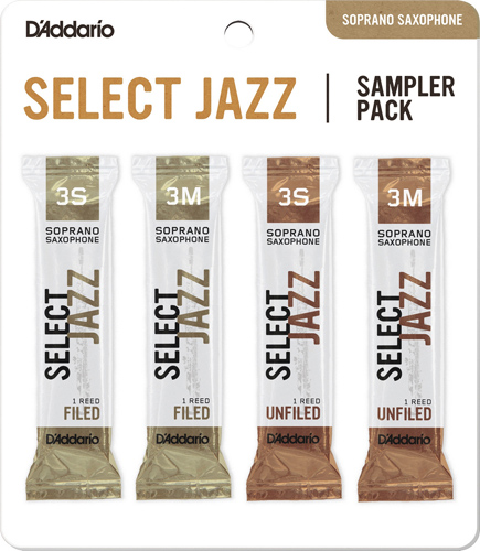 Select Jazz Soprano Saxophone Reed Sampler Pack - Strength 3S and 3M