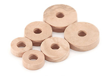 Cork Pads with Hole - 15mm