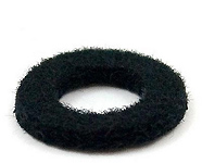 Valve Cap Felt - 19mm x 3mm with 9mm hole in Black - Yamaha Trumpets / Cornets / Flugels