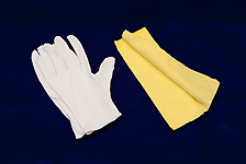 Gloves - White Cotton Small/Medium with Care Cloth