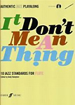 It Dont Mean A Thing Flute Book & Cd