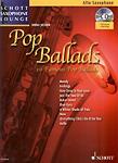 Pop Ballads Alto Book & Cd Saxophone Lounge