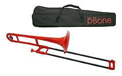 pBone Plastic Trombone - Red