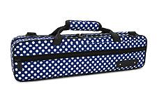 Beaumont Flute Case - Blue Polka Dot