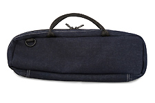 Beaumont C Foot Flute Bag - Blue Denim