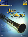 Jazz Ballads Book & Cd Schott Clarinet Lounge